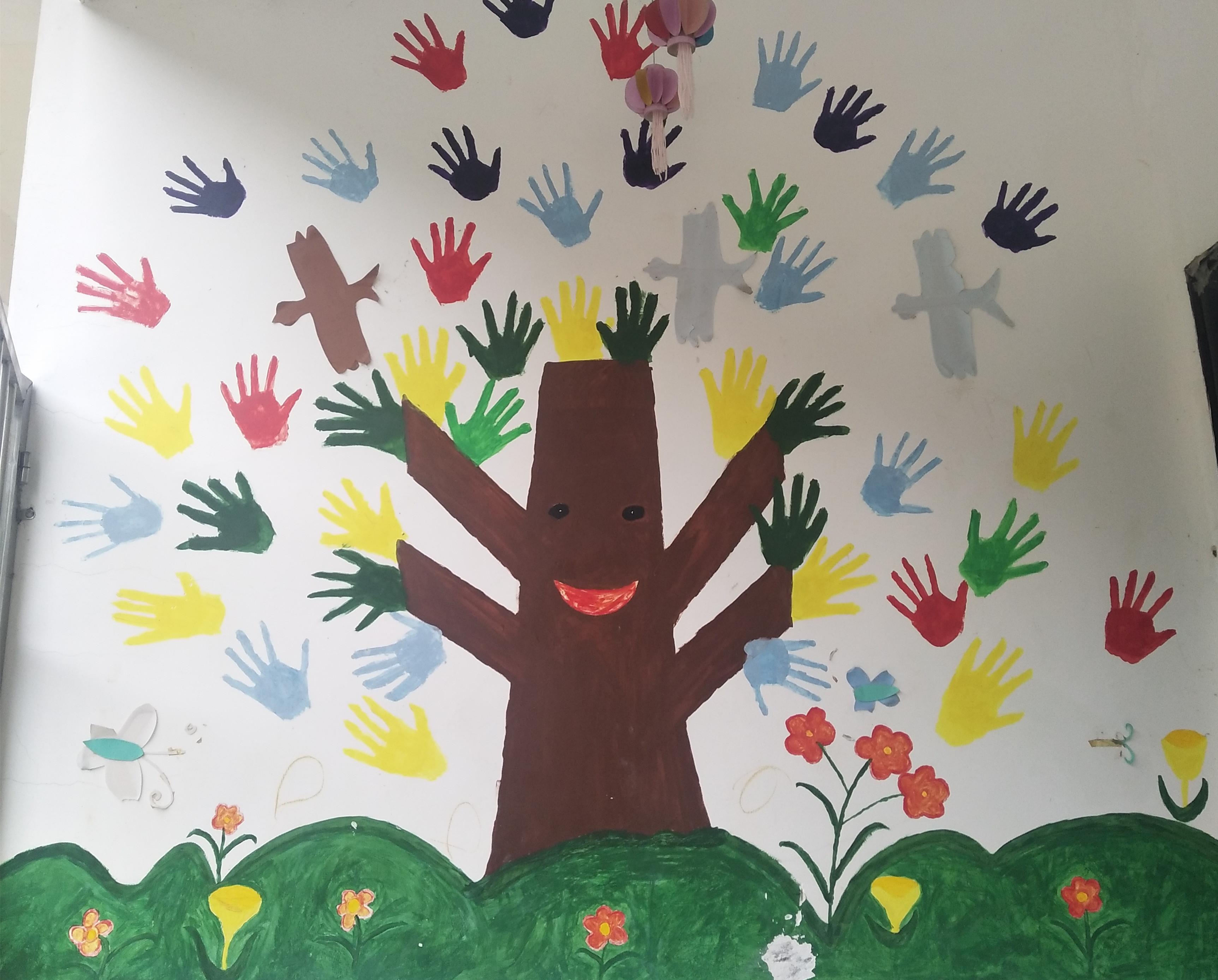 这就是农村幼儿园老师们动手做出的环境创设!